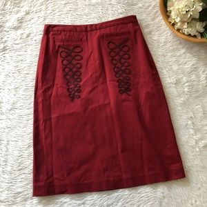 Sitwell Anthropologie Red Skirt